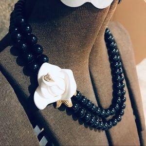 Kenneth Jay Lane for Avon white flower necklace